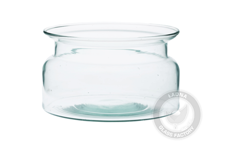 Glass bowl shaped like a jar W-332G5 H:9.5cm D:16cm